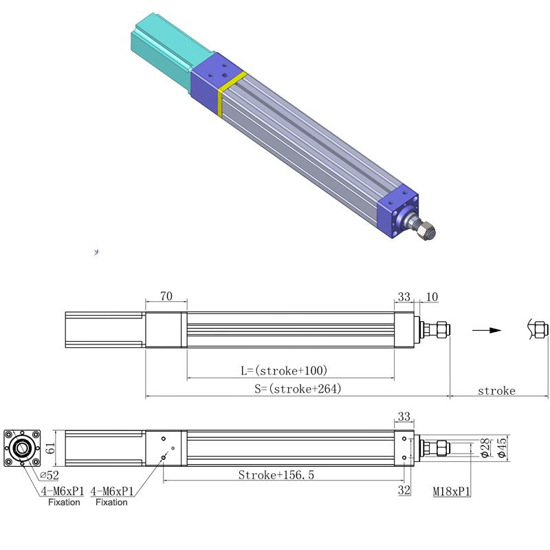 cilindro elettrico, cilindro