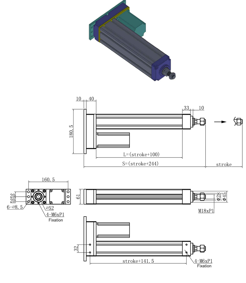 electric actuator, linear actuator