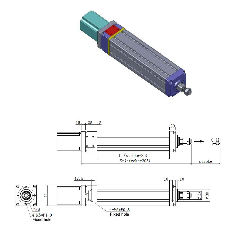 elektrische cilinder, cilinder