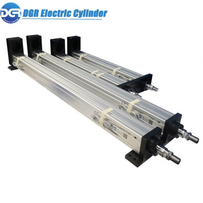 10KN atuador linear elétrico, atuador linear do motor de passo linear, 12V DC atuador linear elétrico do motor, atuador linear elétrico para luzes de alerta de emergência do caminhão