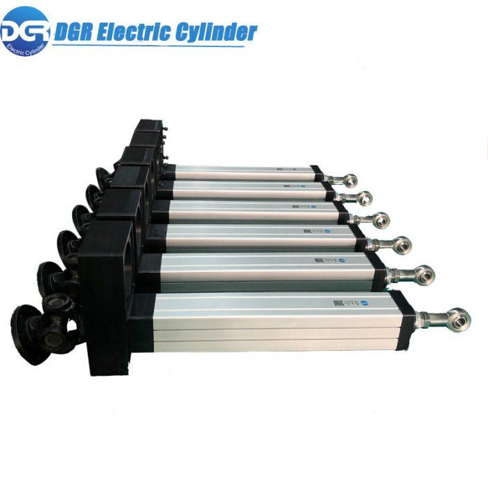 Stappenmotor elektrische lineaire actuator, 12V DC motor elektrische lineaire actuator, elektrische lineaire actuator voor alarmlichten voor vrachtwagens