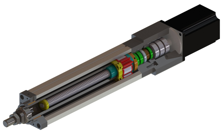 Long life precision electric cylinder